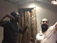 Adonis y Osain del Monte y Alain Pérez en el Estudio