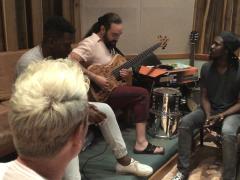 Adonis y Osain del Monte, Alain Pérez y Eduardo Sandoval en el Estudio